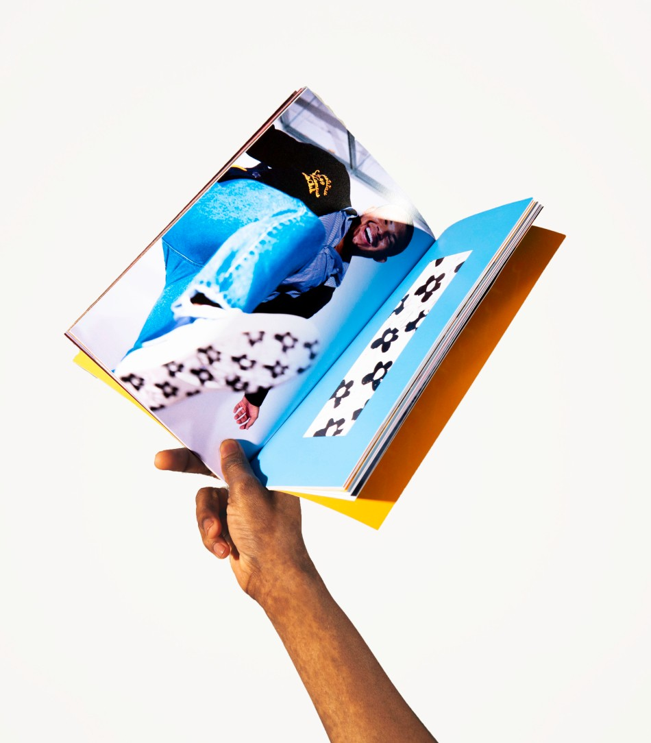 book and hand